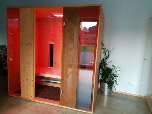 Liegekabine_Saunaliege Sauna Infrarotkabine Infrarotstrahler Saunabau