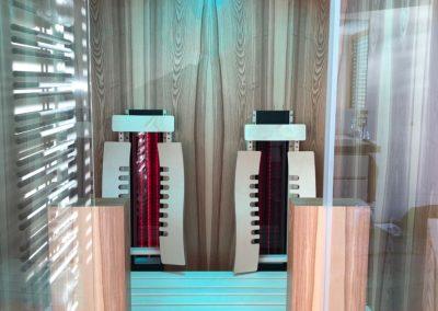 Infrarotkabine Badezimmer Rotlichtstrahler App-Steuerung Echtholz Saunabau Vollholz Sauna Infrarotsauna